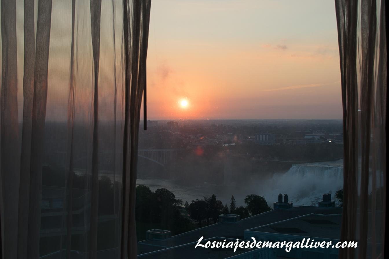 vistas desde la habitación del hotel Hilton en Niágara - Hoteles en Canadá - Los viajes de Margalliver